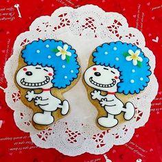アフロスヌーピー #アイシングクッキー#アイシング#クッキー#アフロスヌーピー#スヌーピー#オーダークッキー#ハンドメイド#フリーハンド#icingcookies#icing#cookies#thankyou