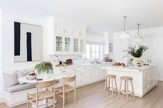 BECKI OWENS - Pinterest Top 10 - Visit the blog to see the top trending images on my boards this month! Like this fresh white kitchen.
