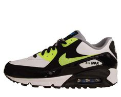 Nike Air Max 90 GS Black White Volt Youth Running « Shoe Adds for your Closet