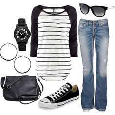 Sporty but dislike the watch, glasses I can live with. This is my type of style for casual events!