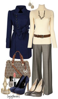 """neutrals & cobalt"" by enjoytheview on Polyvore"