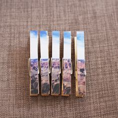 Customize a set of clothespins. | 21 Ways To Bring Your Instagram Photos To Life