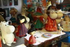 Vintage Moomins at Nukkemuseo Porvoo, Finland