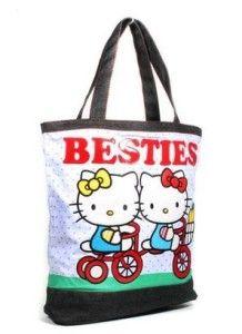ecf7201d8269 Polka Dot Hello Kitty Besties Tote Bag By Loungefly Sanrio Hello Kitty