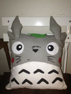 Totoro Square Pillow - Unique Ghibli Inspired on Etsy, £11.31