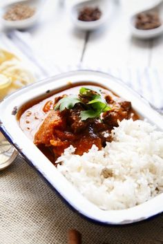 Spicy tender beef curry