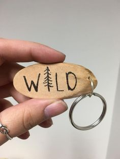 This item is unavailable Wood Slice Crafts, Wood Burning Crafts, Wood Burning Patterns, Wood Burning Art, Wood Crafts, Wooden Keychain, Diy Keychain, Wood Keychain Ideas, Keychains