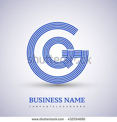 Letter GQ or QG linked logo design circle G shape. Elegant blue colored letter symbol. Vector logo design template elements for company identity. - stock vector