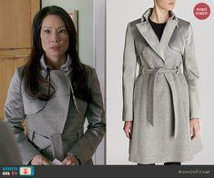 Joan's grey coat on Elementary.  Outfit Details: http://wornontv.net/44861/ #Elementary