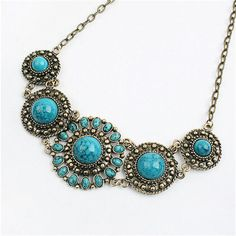 Women Bohemian Fashion Chain Pendant Statement Bib Flower Chunky Collar Necklace #Unbranded #Statement