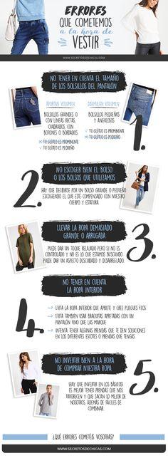 Hola a todos! :) Hoy os traigo un post sobre errores que cometemos a la hora de vestirnos. ¿Cuál de estos errores cometéis vosotras? ¡No os los perdáis!