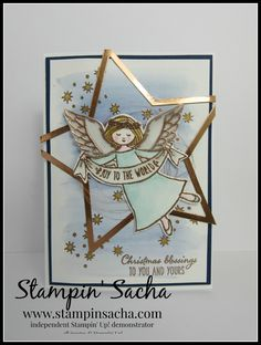 Stampin' Sacha - Stampin' Up! - Autumn-Winter Catalogue 2016 - Wonder of Christmas - Stars Framelits - Whisper White - Shimmery White - Copper Foil - Vellum - Night of Navy - Aqua Painters - Soft Sky - So Saffron - Smoky Slate - Copper Metallic Thread - Christmas - #stampin_sacha - #stampinup