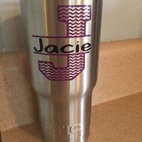 Add+your+own+personal+style+to+your+favorite+tumbler+or+water+bottle.+  At+checkout,+please+provide+the+following+details: 1.+Large+initial+&+color+for+initial 2.+Name+&+color+for+your+name