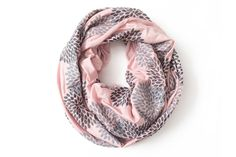 Blush Double Flowers Infinity Scarf