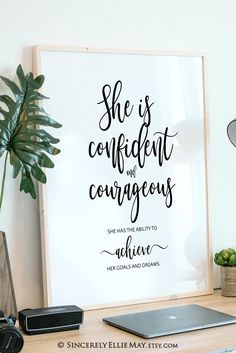 Champion the unique inner strength and courage in the woman #champion #strength #confident #courage #confidentwoman #strongwoman #achiever #etsyposters Confident Women Quotes, Confident Woman, Printable Designs, Printable Wall Art, Printables, Quote Posters, Sign Quotes, Inspirational Posters, Motivational