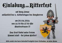 Fesselnd Kindergeburtstag Einladung Ritter