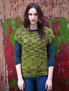 Solstice - Knit this women's stocking stitch and open work tee style top from the Thick 'n' Thin Collection, a design by Sarah Hatton using the gorgeous yarn Thick 'n' Thin (100% wool). With a wide round neck, stitch pattern contrasts and cap sleeves, this knitting pattern is for the intermediate knitter.