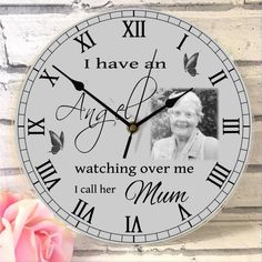 I have an Angel . Photo Clock, Watch Over Me, Diy Clock, Photo Quality, Wow Products, Call Her, Clocks, Your Design, Layout