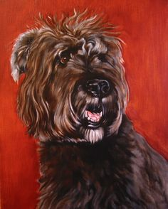 Bodhi is a big fan of Mario Ricci and his ongoing efforts to support animal rescue operations. This is not Bodhi. It's Moxy, one of Mario's paintings. Check out more of Mario's work at www.manpaintsdog.com
