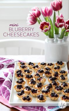 Mini Blueberry Cheesecakes made with Phyllo Cups Cheesecake Desserts, Blueberry Cheesecake, Blueberry Tarts, Phyllo Recipes, Cooking Recipes, Phyllo Cups, Fig Cake, Pastry Shells, Eat Dessert First