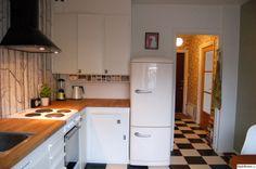 kök,retro,marmoleum,gorenje,kylskåp
