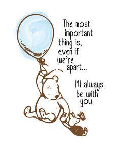 Classic Winnie The Pooh Nursery Print