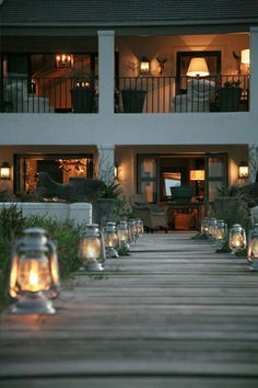 Love the lanterns; love all the out door living spaces.
