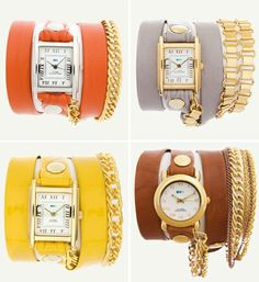 i'm obsessed with these La Mer Wrap Watches.