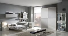 bedroom gray design