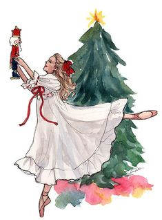 Nutcracker ~ Illustration by Inslee Haynes Christmas Drawing, Christmas Art, Winter Christmas, Vintage Christmas, Christmas Sketch, Christmas Design, Illustration Noel, Fashion Illustration Sketches, Christmas Illustration