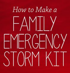 How to make a family emergency storm kit #prepwithpower #shop #cbias #storm #texas #weather