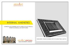 Arihant Anchal - Jodhpur 2 BHK Apartments  Concealed Wiring With Ample Electrical Points & Modular Switches  www.asl.net.in/arihant-anchal.html  #ArihantAnchal #RealEstate #Jodhpur #Rajasthan #Property #LuxuryHomes
