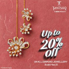Experience tranquil days by choosing impeccable diamond collection from #Tanishq.Avail up-to 20% off on all diamond jewelry.  Shop Now: http://goo.gl/dl2J8f