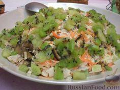 Рецепт: Мясной салат с киви на RussianFood.com