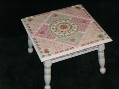 Polka Dot Romance - Shabby Cottage Mosaic Table