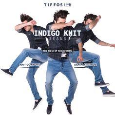 NEW IN - Indigo Knit #tiffosi #tiffosidenim #jeans #denim #man #collection #indigo #knit #indigoknit #newin #musthave