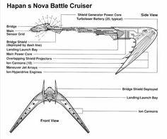 Hapan Nova Battle Cruiser Blueprint