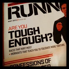 Spartan race on Saturday. I got this.  Running Times May 2013