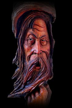 wood spirits faces | OOAK, Wood Tree Spirit, Carving, Face, Sculpture, Folk Art