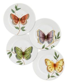 Butterfly plates pinned with – www. China Plates, Plates And Bowls, Plates On Wall, Pottery Painting, Ceramic Painting, Ceramic Art, Porcelain Painting Ideas, Ceramic Plates, Ceramic Pottery