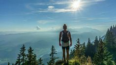 A beautiful free photo of girl woman and hiking trekking. This image is free for both personal and commercial use. Bergen, Rocky Mountains, Lost In Thought, Branding, Travel Goals, Belle Photo, Best Hotels, Outdoor Activities, The Great Outdoors