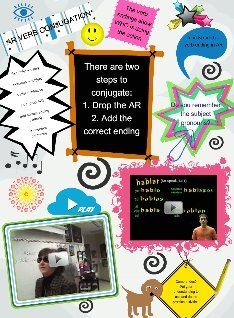 See the Glog! Verb Conjugation, Spanish 1, Spanish Teacher, Multimedia, School Ideas, Classroom Ideas, Ipad, Posters, Awesome