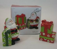 Fitz and Floyd Holiday Cheer Salt and Pepper by Fitz and Floyd. $9.99. From the Holiday Cheer line. Santa is 3.25 inches tall and Stack of Presents is 2.75 inches tall. Santa has 3 holes, Stack of Presents has 2 holes. From the Fitz And Floyd Holiday Collection