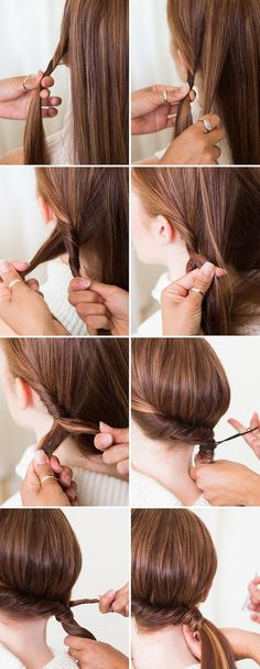 ▷ 1001 + inspiring ideas for simple hairstyles for everyday life - Haarfrisuren - Cabelo Casamento Pony Hairstyles, Braided Hairstyles Tutorials, Trendy Hairstyles, Beautiful Hairstyles, Asian Hairstyles, Braids Tutorial Easy, Diy Tutorial, Easy Everyday Hairstyles, Types Of Braids