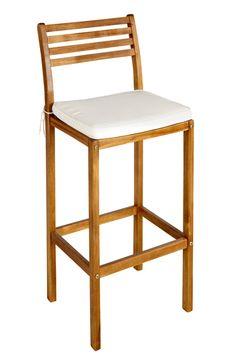 Taburete madera con respaldo mobiliario de madera - Mecedora leroy merlin ...