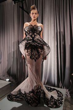 Vestido de noche estilo art Nouveau