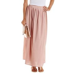 Pleated Wrap Maxi Skirt: Charlotte Russe