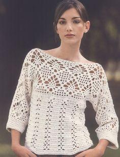 Fabulous Crochet a Little Black Crochet Dress Ideas. Georgeous Crochet a Little Black Crochet Dress Ideas. T-shirt Au Crochet, Cardigan Au Crochet, Beau Crochet, Pull Crochet, Gilet Crochet, Mode Crochet, Black Crochet Dress, Crochet Shirt, Crochet Jacket