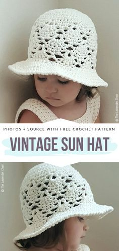 Great Cost-Free Crochet for kids Thoughts Crochet Sunhats for Kids Free Patterns – Free Crochet Patterns Crochet Toddler Hat, Knitted Hats Kids, Crochet Girls, Crochet For Kids, Free Crochet, Sun Hat Crochet, Kids Crochet Hats Free Pattern, Childrens Crochet Hats, Toddler Sun Hat