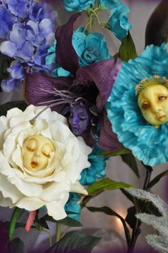 "Half Down ......Special Order Handsculpted ""Alice In Wonderland Talking Flowers .....Jennifer Sutherland* on Etsy, $27.74 AUD"